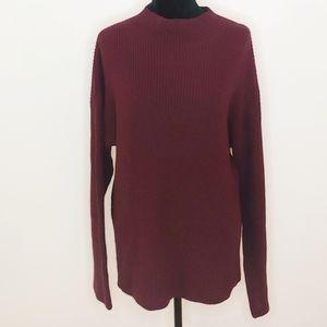 TREASURE & BOND Ribbed Funnel Neck Sweater L
